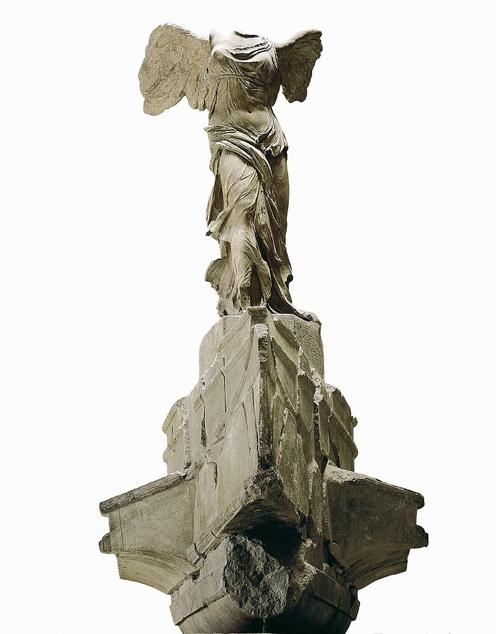 Vertical Photograph - Wingel Victory Of Samothrace Or Nike by Everett