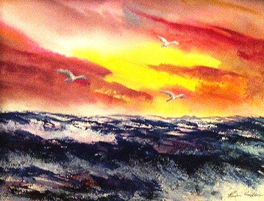 Wings Of Change Painting by Karen  Condron