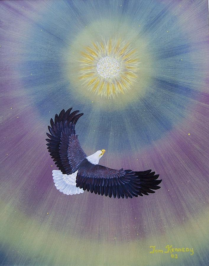 Bald Eagle Painting - Wings Of Eagles by Thomas F Kennedy