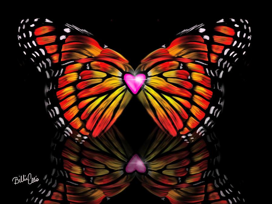 Butterfly Digital Art - Wings of Love by Billie Jo Ellis