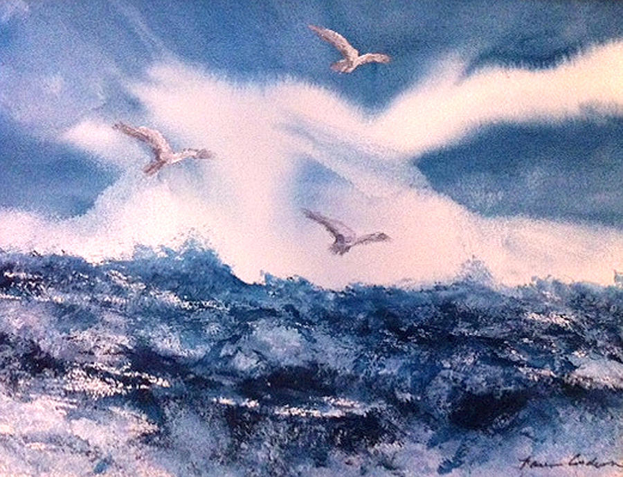 Wings Of The Wind Painting by Karen  Condron