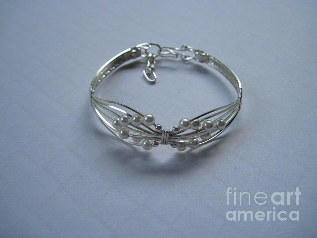 Bracelet Jewelry - Wings Of White Pearls Bracelet by Holly Chapman