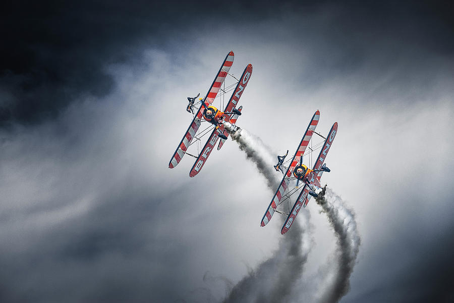 Action Photograph - Wingwalkers by Leon