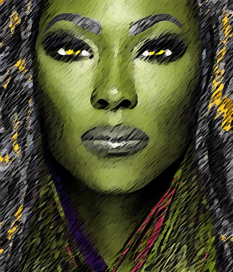 Alien Digital Art - Winlana by Piero Lucia