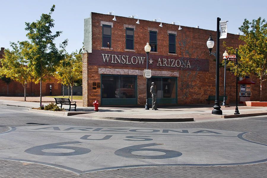 Famous Photograph - Winslow Arizona - Such A Fine Sight To See by Christine Till