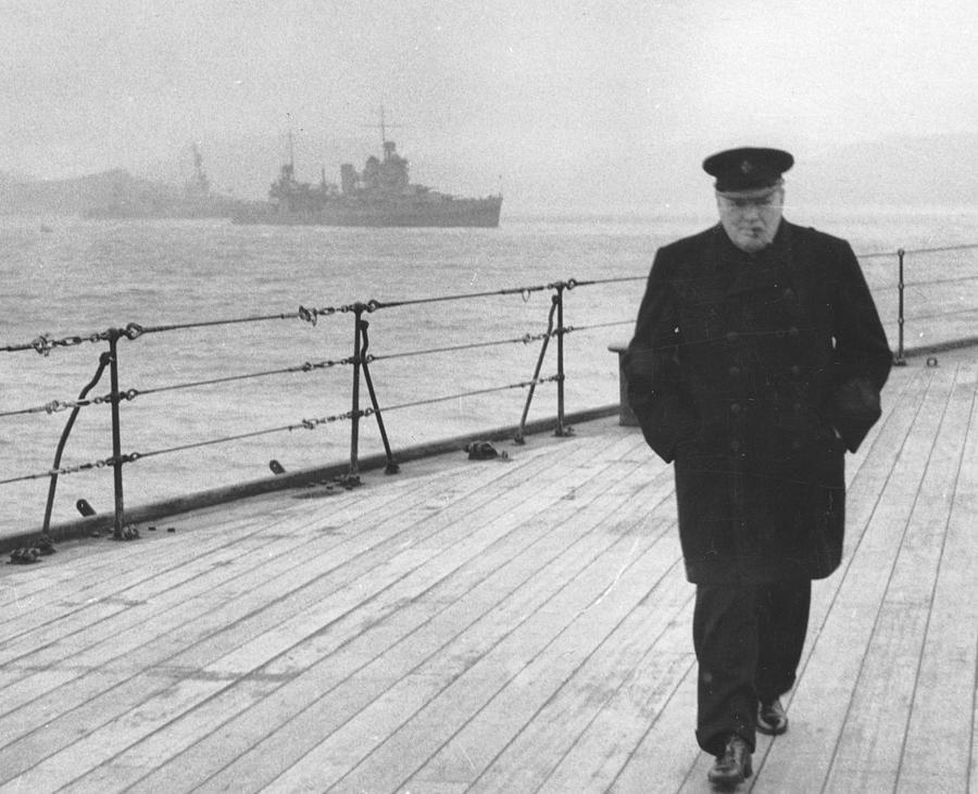 Churchill Photograph - Winston Churchill by English Photographer