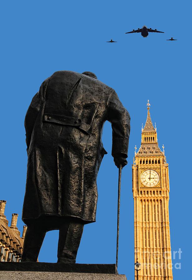 Churchill Photograph - Winston Churchill by Jasna Buncic