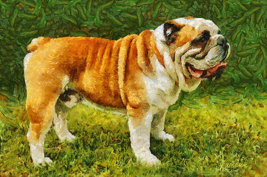 English Bulldog Painting - Winston by Marina Likholat