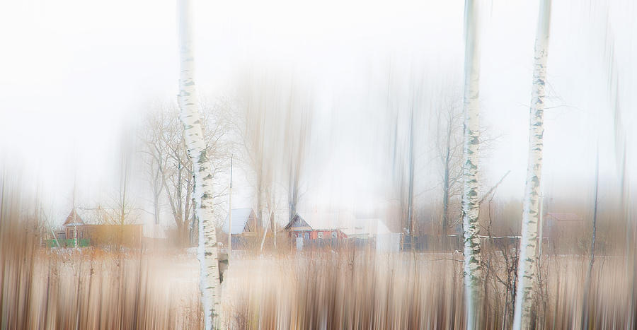 Impressionism Photograph - Winter Aquarel. Russia by Jenny Rainbow