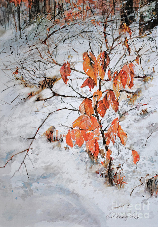 Winter Painting - Winter Ash by P Anthony Visco