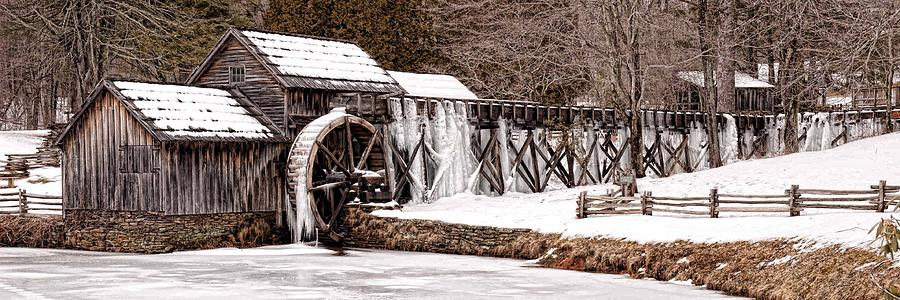 Winter at Mabry Mill by Keith Swango