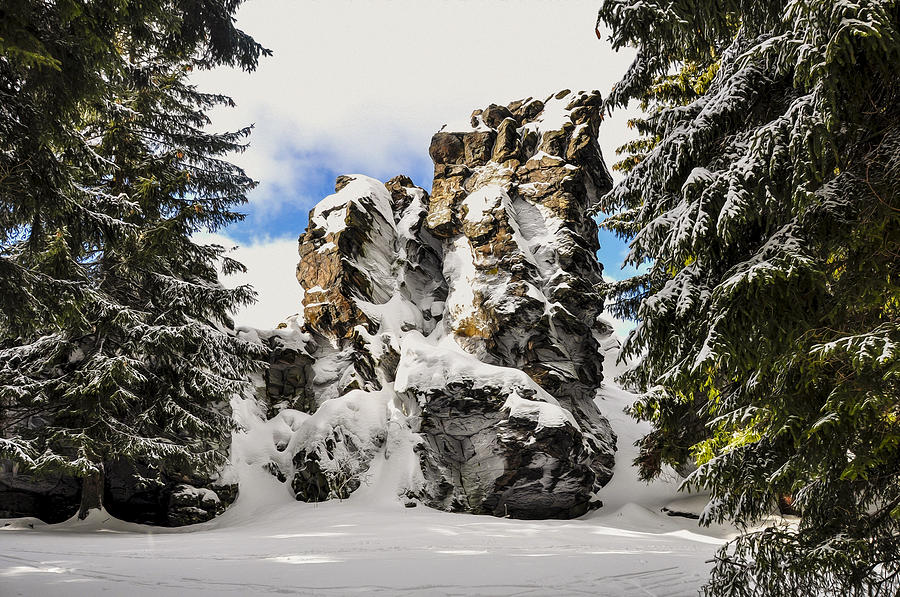 Sunny Photograph - Winter At The Stony Summit by Aged Pixel