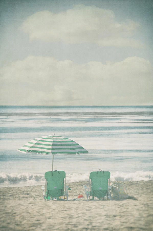 Winter Beach Chairs Photograph by Denise Taylor
