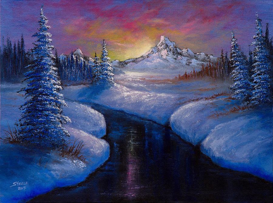 Landscape Painting - Winter Beauty by C Steele