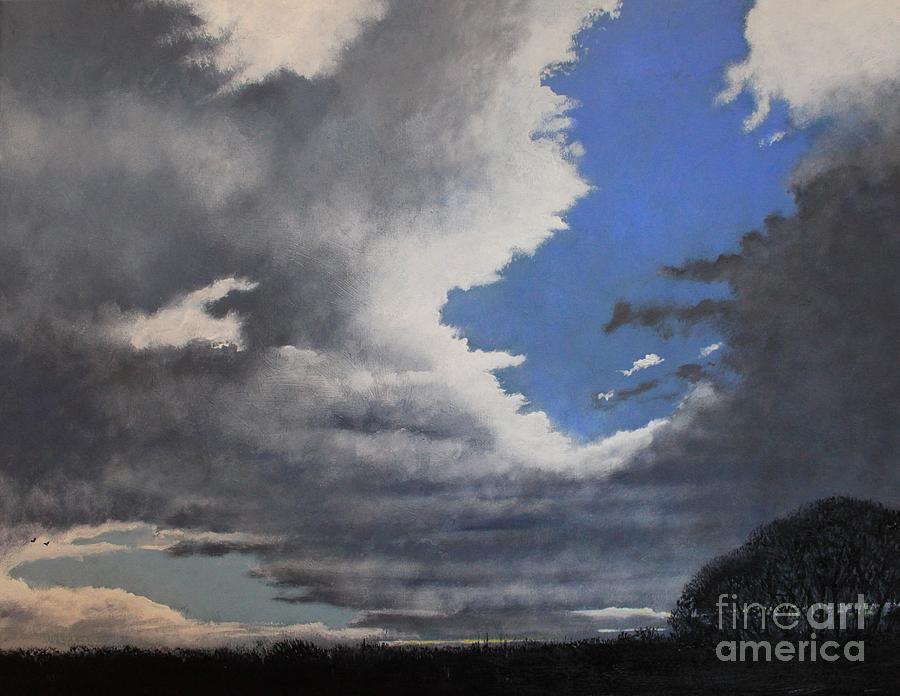 Skyscape Painting - Winter Blues by Paul Horton