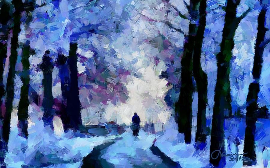 Silhouette Digital Art - Winter Blues Tnm by Vincent DiNovici