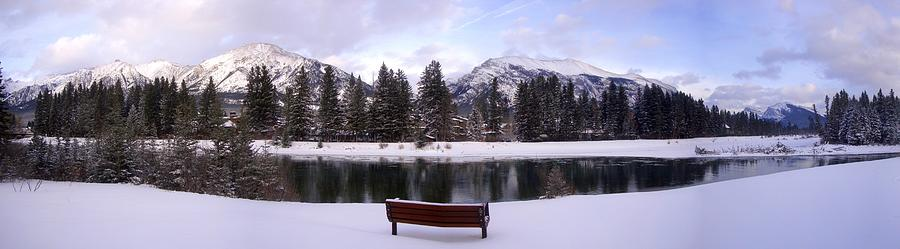 Winter Mountain Snow View - Canmore, Alberta Photograph