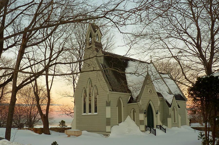 Winter Chapel Photograph by Elaine Franklin