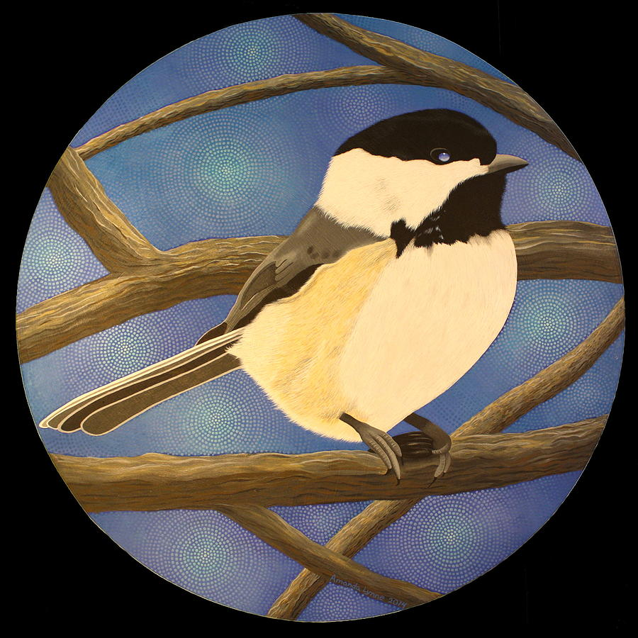 Winter Chickadee by Amanda  Lynne