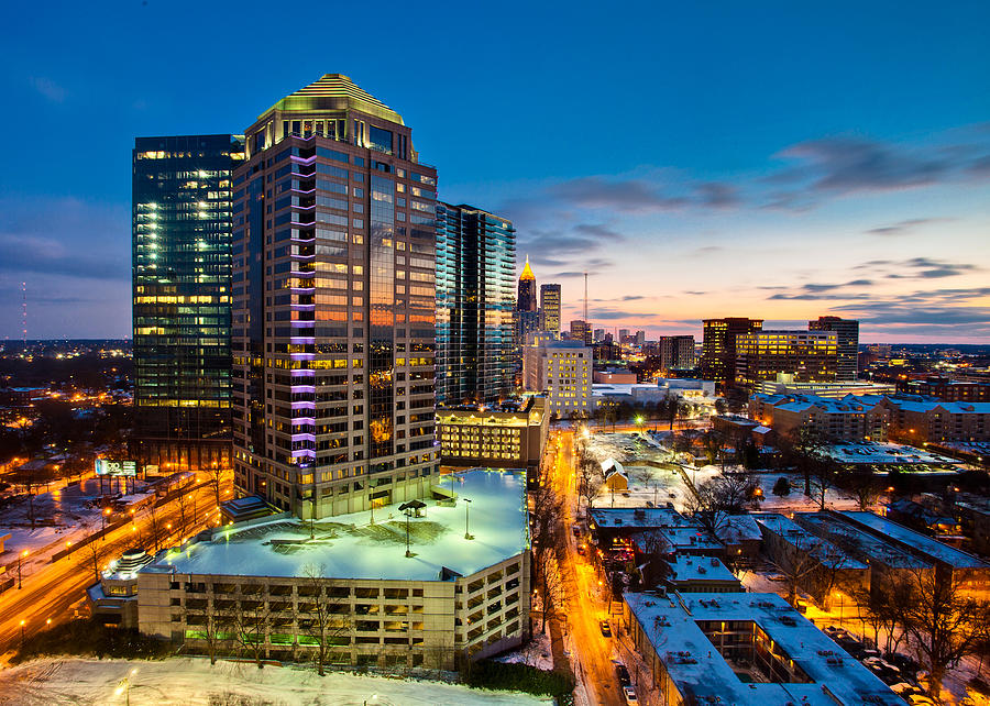 2011 Photograph - Winter City Wonderland by Scott Moore