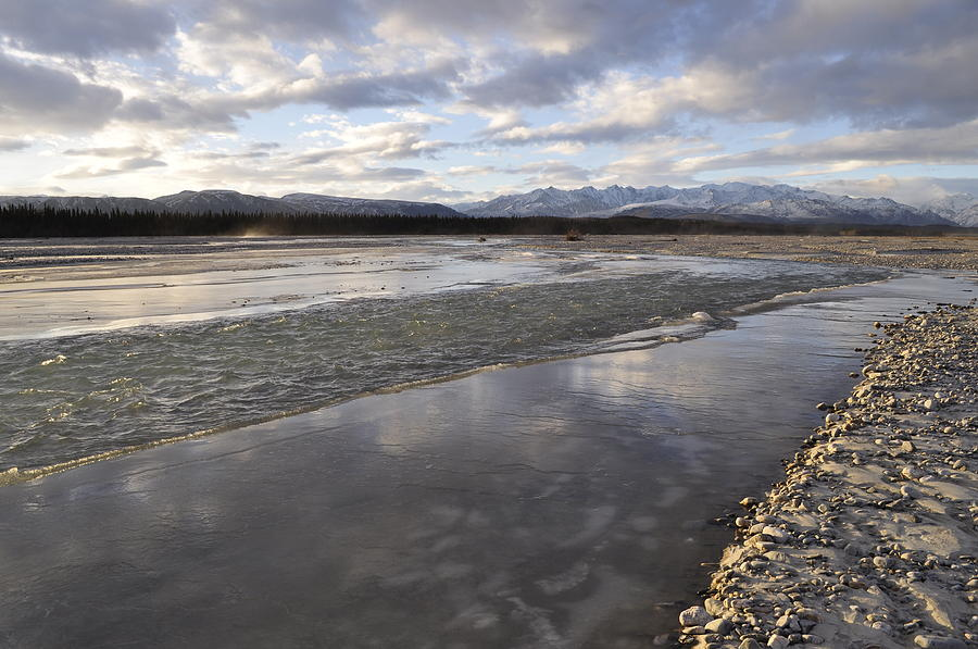 Delta Junction Photograph - Winter Comes To The Gerstle River by Cathy Mahnke