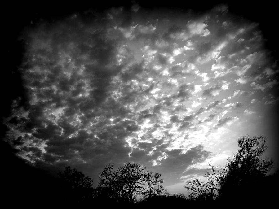Black And White Photograph - Winter Cool Front Sunset by James Granberry