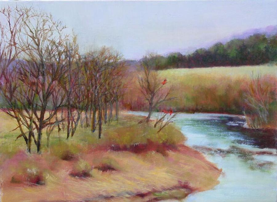 Landscape Painting - Winter Creek                  Copyrighted by Kathleen Hoekstra