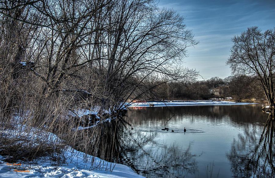 Creek Photograph - Winter Creek 2 by Dan Crosby