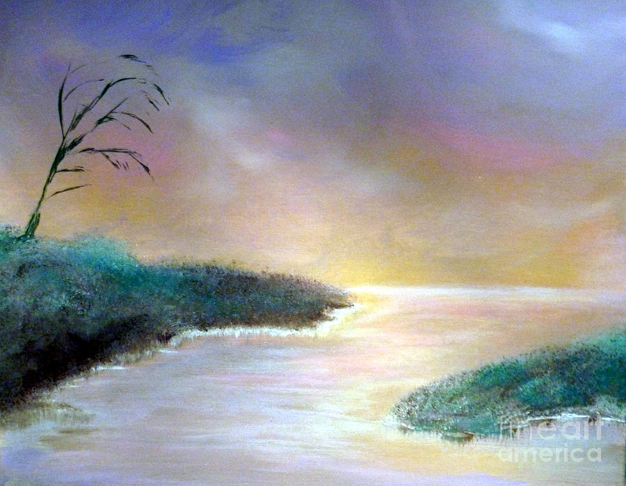 Winter Painting - Winter Dawn 1 by Alys Caviness-Gober