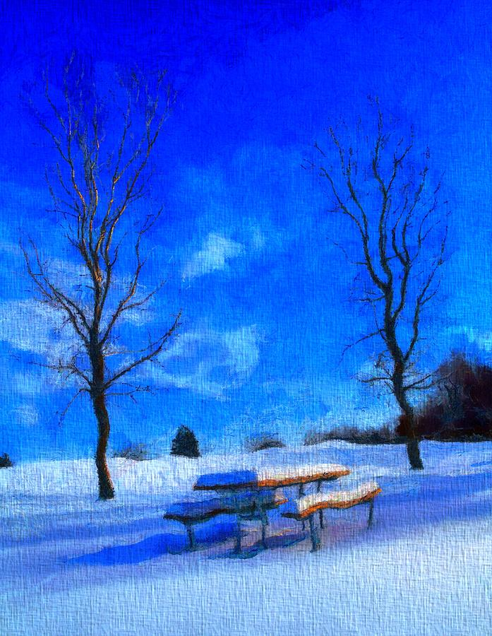 Winter Day On Canvas Painting - Winter Day On Canvas by Dan Sproul