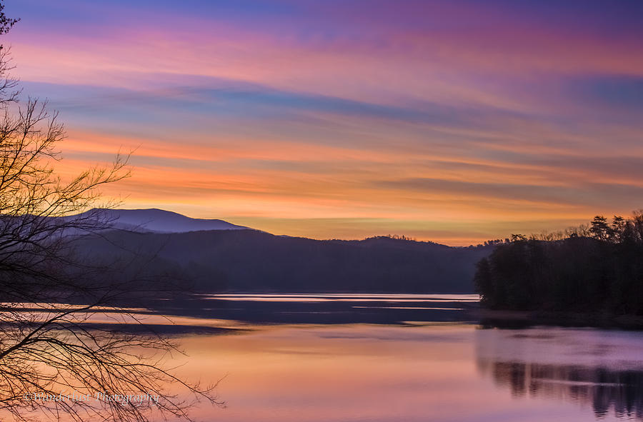 Winter Photograph - Winter Daybreak At Ocoee Lake by Paul Herrmann