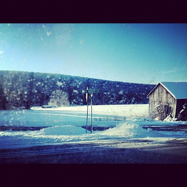 Upstate Photograph - Winter days by Mike Maher