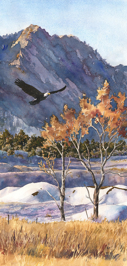 Colorado Rocky Mountain Painting Painting - Winter Drift by Anne Gifford
