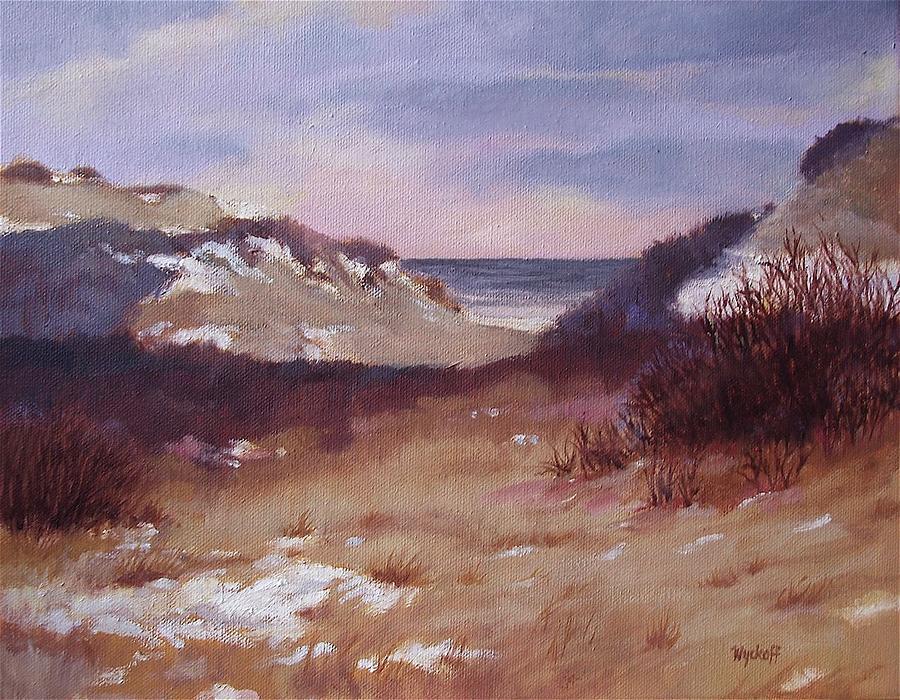 Winter Painting - Winter Dunes by Karol Wyckoff