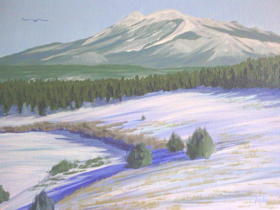 Winter Eagle at Mormon Lake by Cheryl Fecht