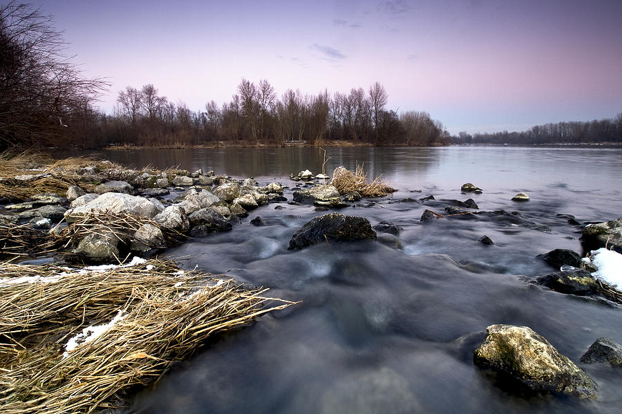 Landscapes Photograph - Winter Evening by Davorin Mance
