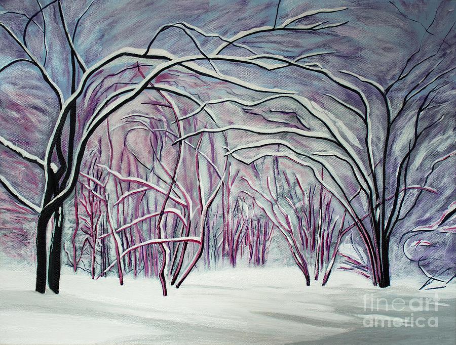 Winter Painting - Winter Fairies by Barbara McMahon