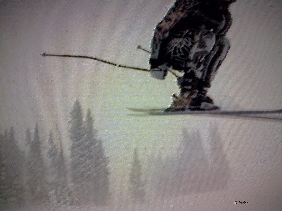 Skiing Digital Art - Winter Flight by George Pedro