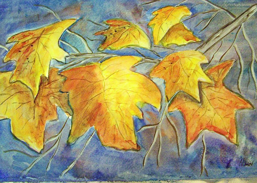 Winter Leaves Painting - Winter Foliage by Belinda Lawson