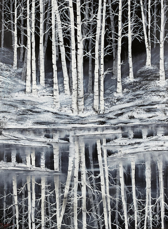Tree Painting - Winter Forest by Premierlight Images