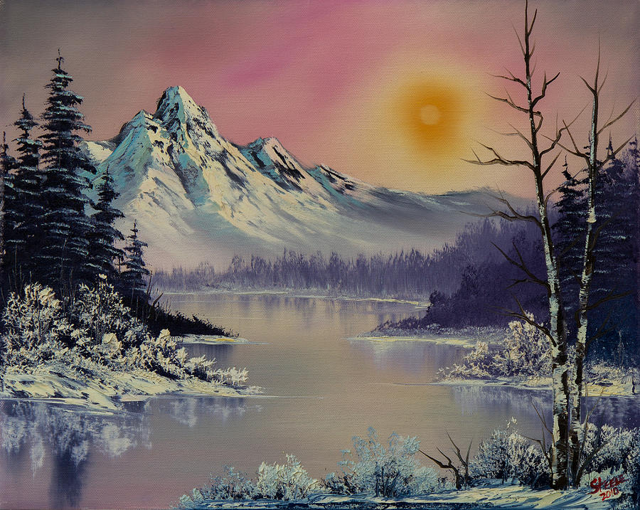 Landscape Painting - Morning Frost by Chris Steele