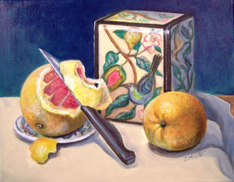 Grapefruit Painting - Winter Fruit by Laura Aceto