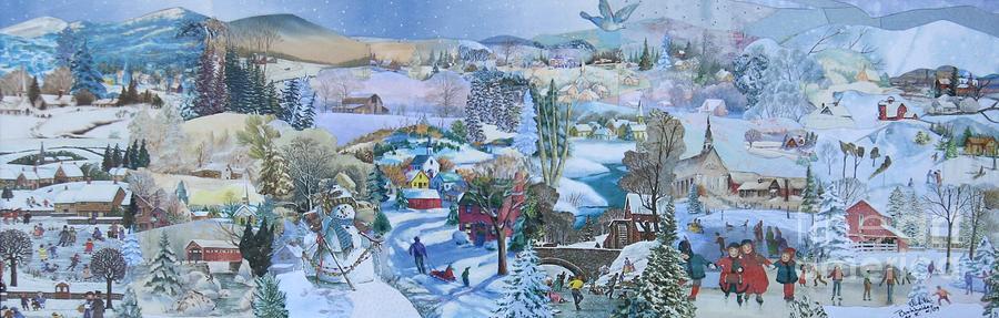 Snow Scene Mixed Media - Winter Fun - Sold by Judith Espinoza