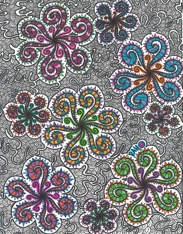Winter Drawing - Winter Funderland by Ryan Ashley Hornbuckle