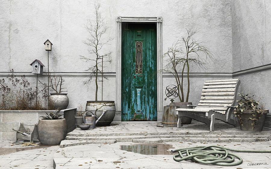 Garden Digital Art - Winter Garden by Cynthia Decker