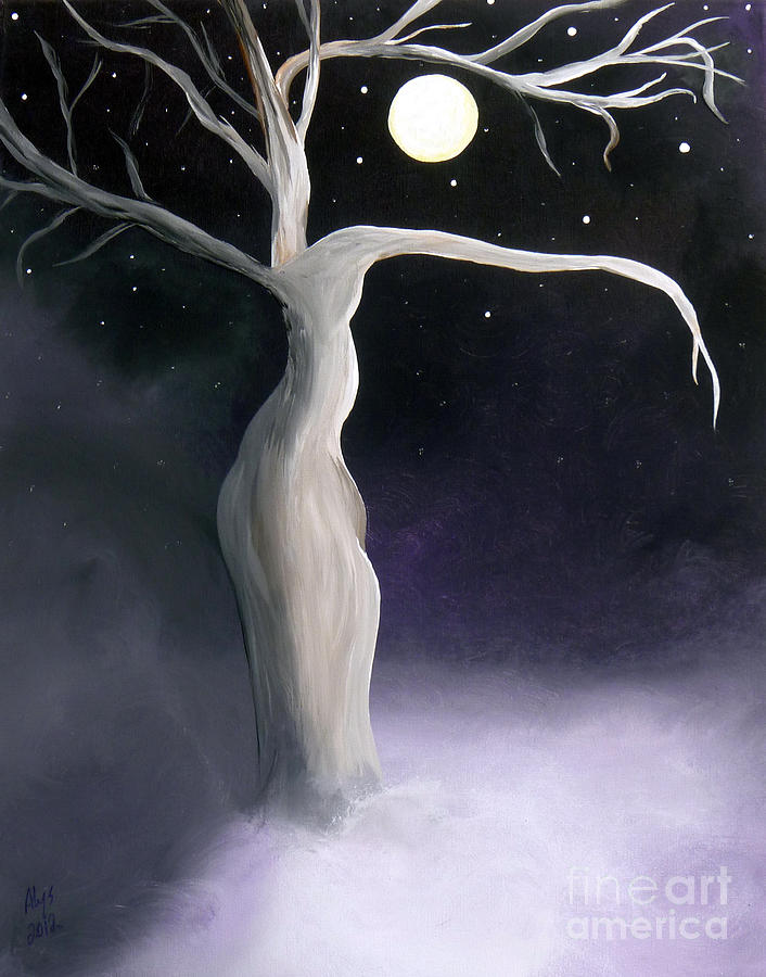 Winter Painting - Winter Goddess by Alys Caviness-Gober