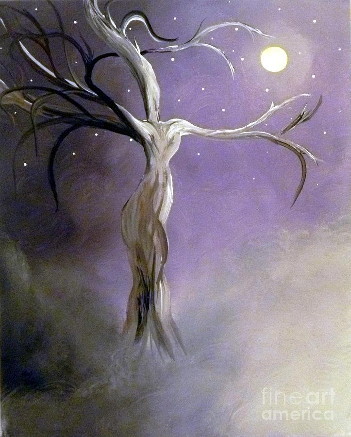 Winter Painting - Winter Goddess II by Alys Caviness-Gober
