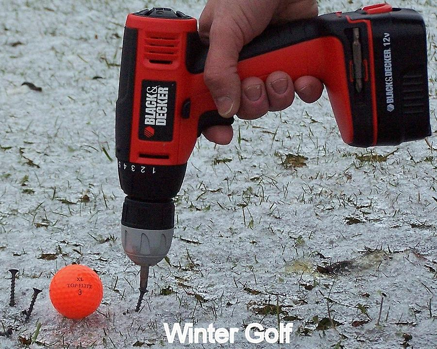Drill Photograph - Winter Golf by Frozen in Time Fine Art Photography