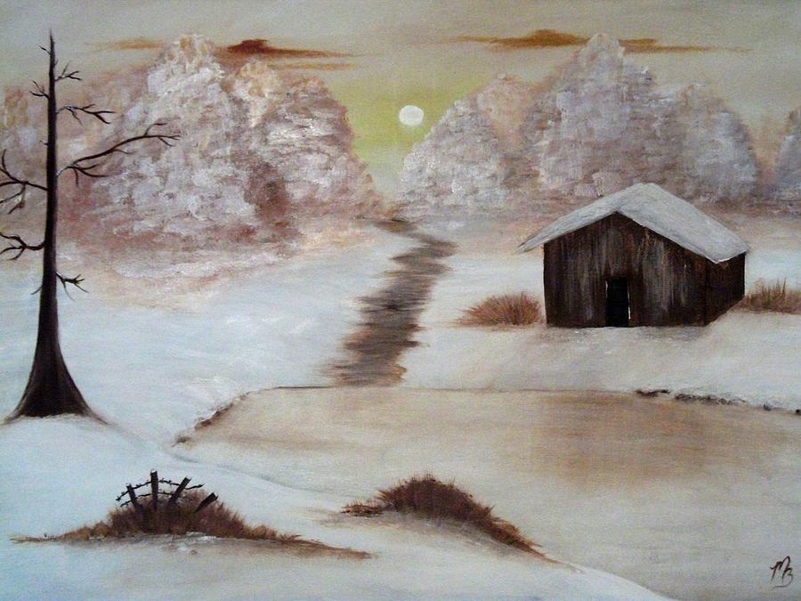 Barn Painting - Winter Haven by Melanie Blankenship