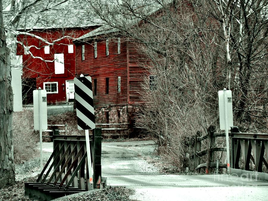 Red Barn Photograph - Winter Home by Sharon Costa